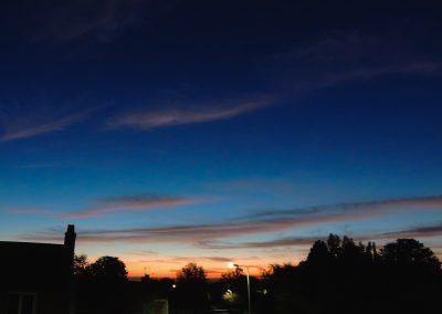 Sunset outside St Andrew's