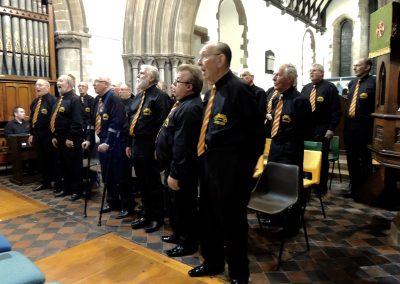 Choir in full song